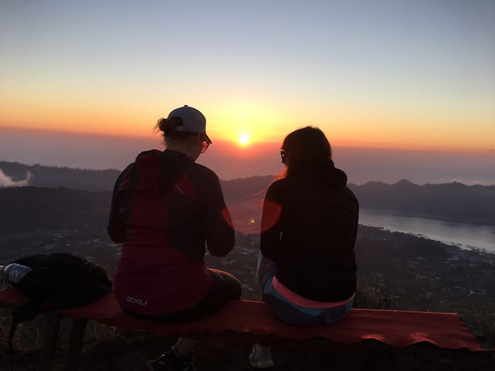 the morning from the summit of Mt Batur