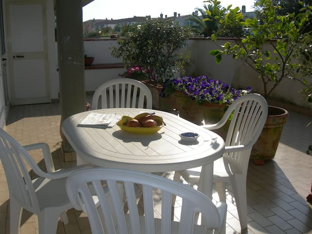 Appartamento 3 vani ampia terrazza fronte laguna - Orbetello - Holiday home