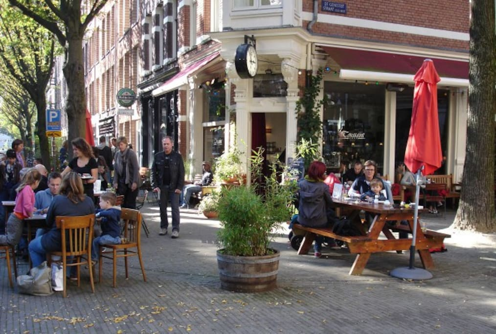 Our appartment is right above this lovely, easygoing cafe. Great for breakfast and your daily cappuchino.