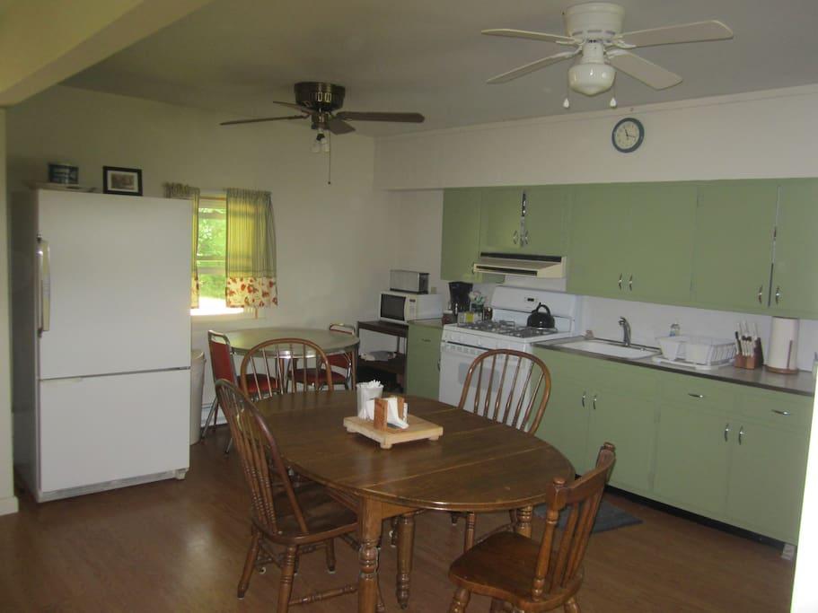 A full kitchen