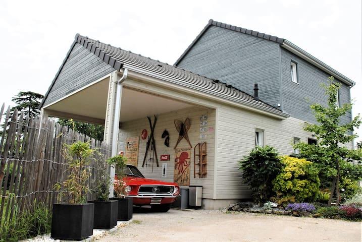 2 chambres  sdb privées maison  proche de loire