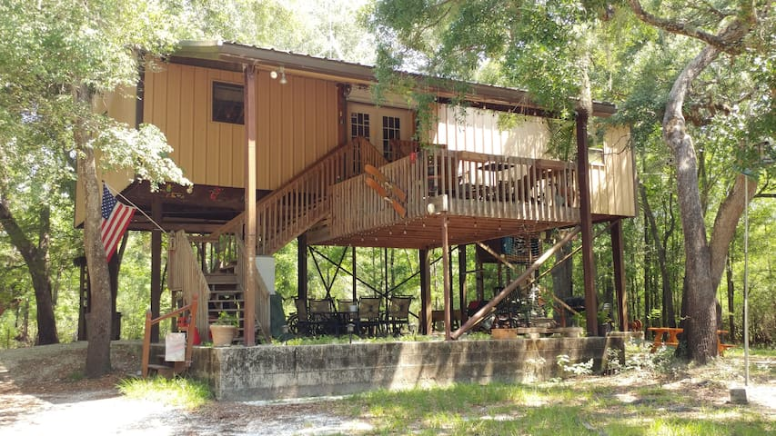 Suwannee Cypress Cabin.  Dock, Dog ATV friendly
