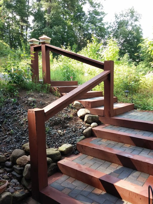 Your steps down to your apartment.