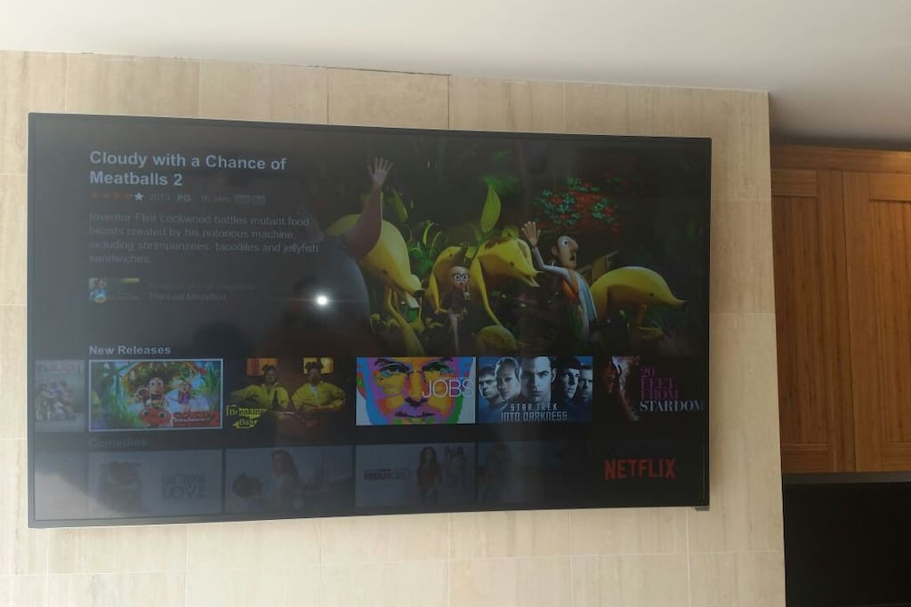70 inch smart TV with WiFi, Netflix, HD Cable, etc...