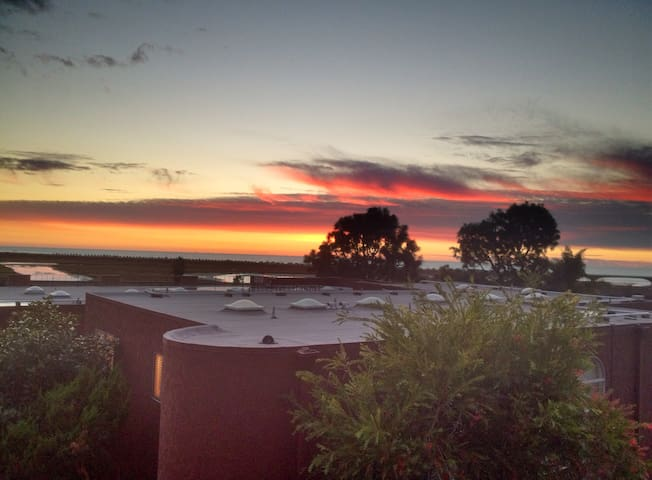 Glorious sunsets from the spacious roof deck