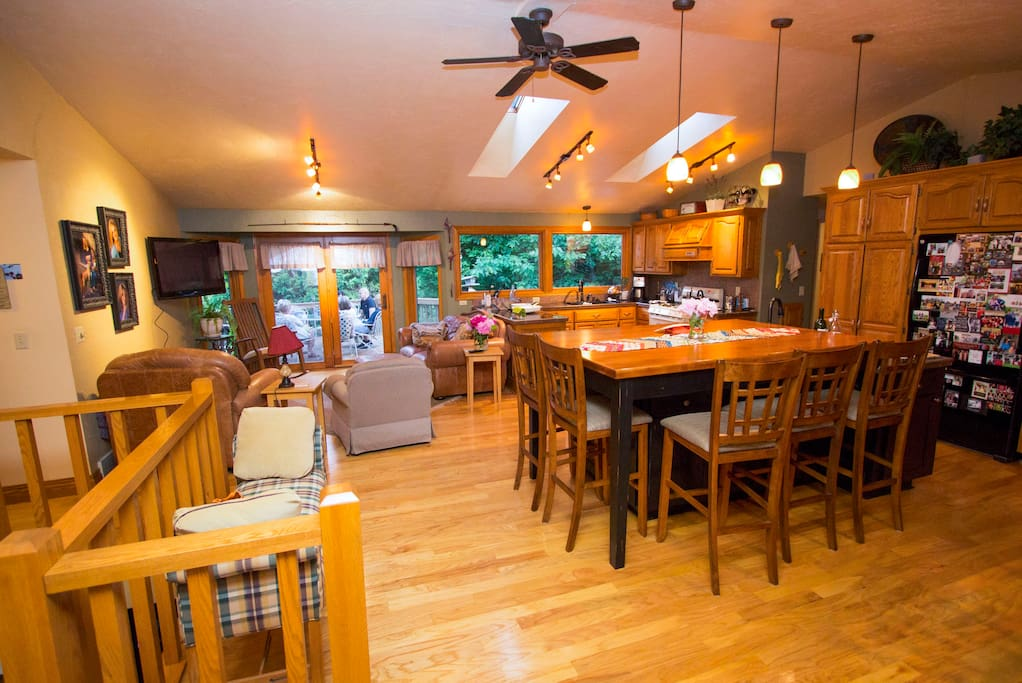 Open concept with large gathering area