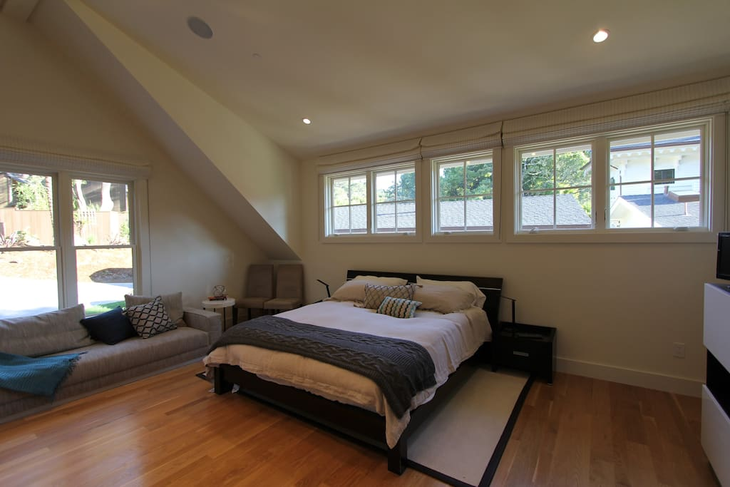 King sized bed and sleeper sofa