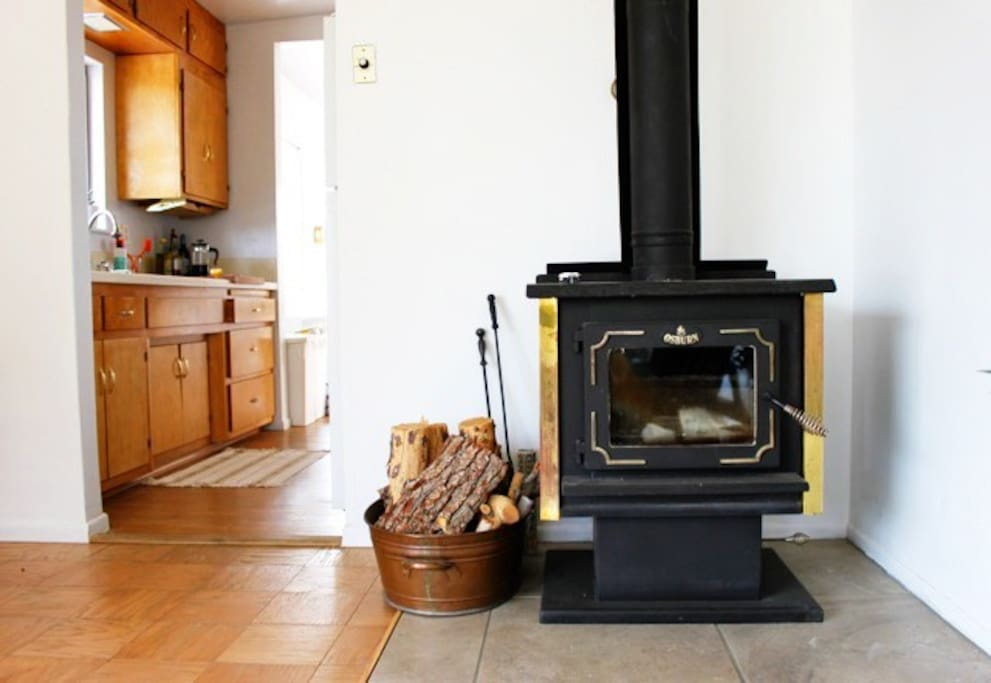 Wood burning stove for cozy nights