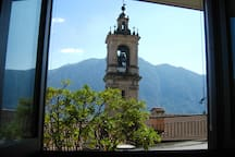 View to St Bartolomeo Church from the kitchen window