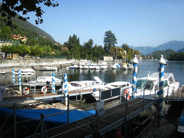 Lake view from Piazza Matteotti in the centre of Sala