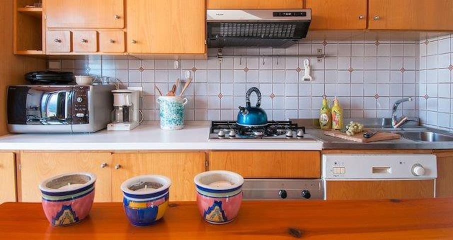 The kitchen is fully equipped and offers any tool for people who enjoy cooking at home