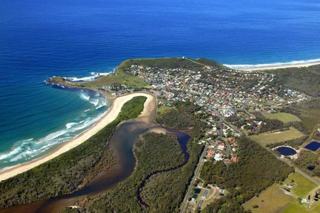 World famous surf town Crescent Head