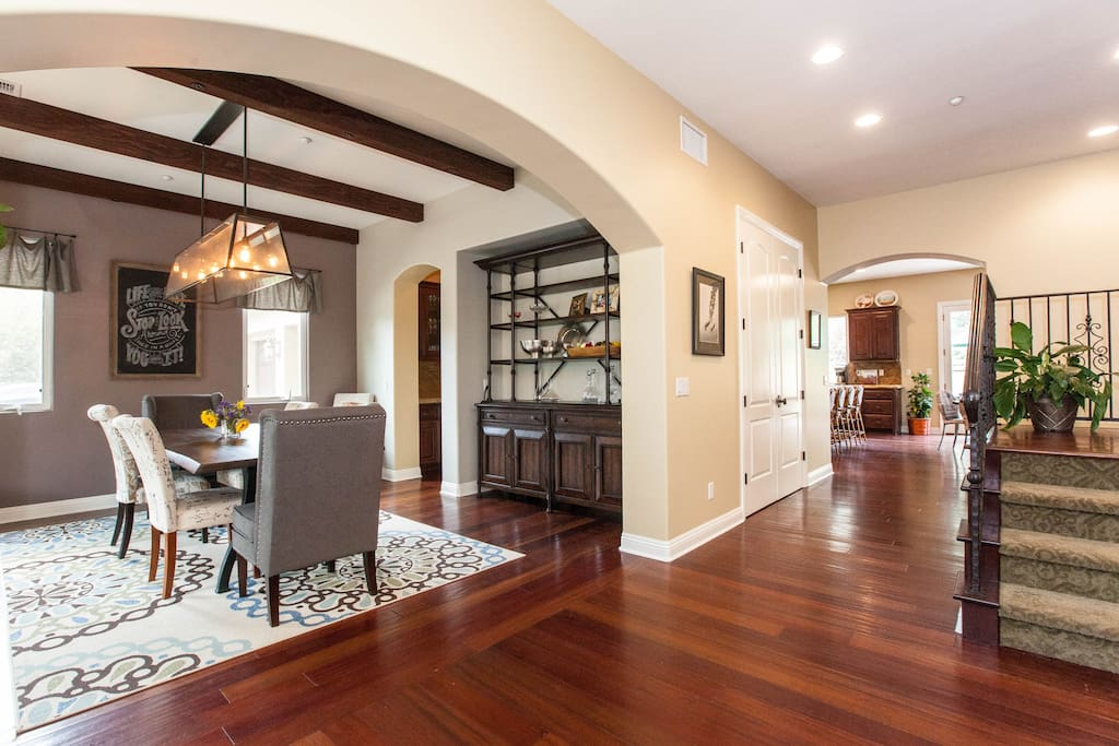Open floor plan perfect for families and for entertaining.