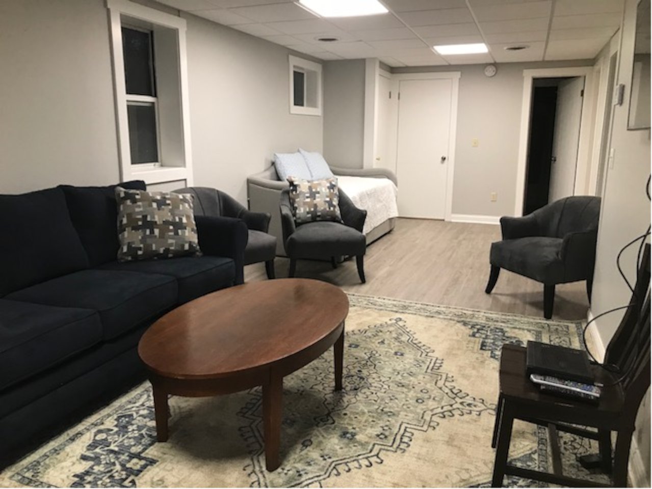 View of main living area.