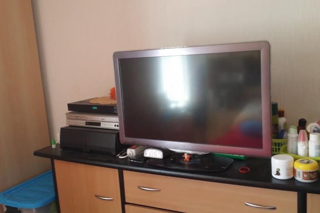digital TV in bedroom