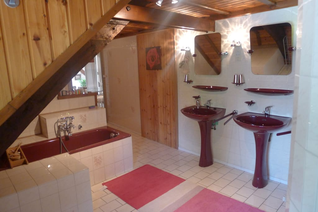 badkamer van het appartement voor 7 personen