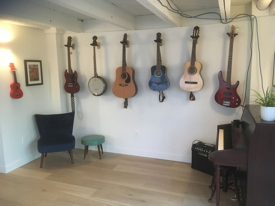 Music corner - feel free to play any of the instruments!