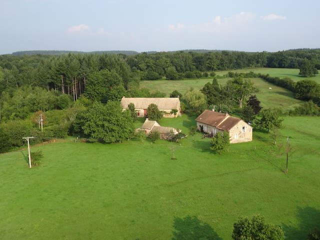 Calme absolu, vue, charme, nature - Rigny-sur-Arroux - Hus