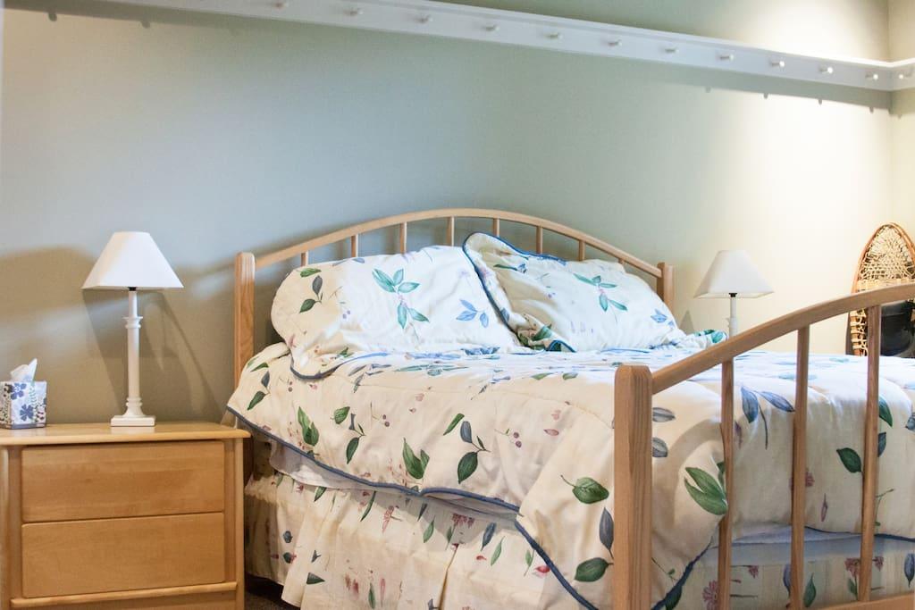 Bedroom #1 of 2-bedroom suite with queen bed