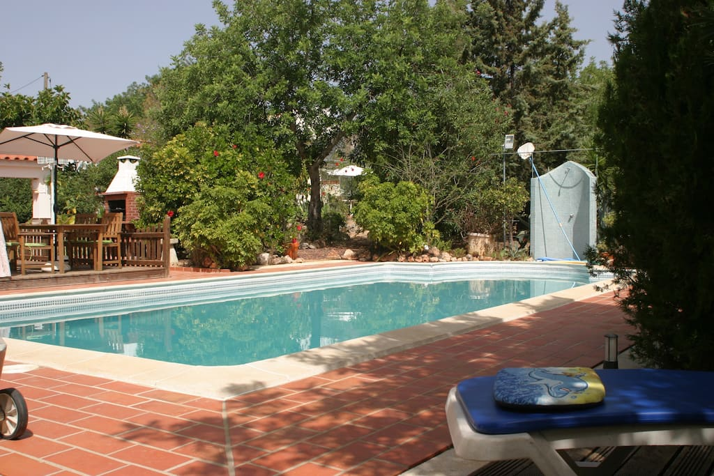 Relax on the patio and decking around the pool.