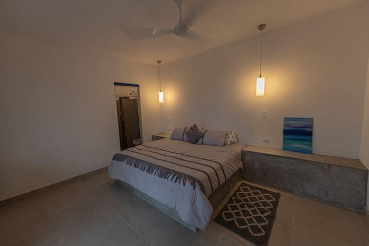 King sized room- free beachfront gear storage!