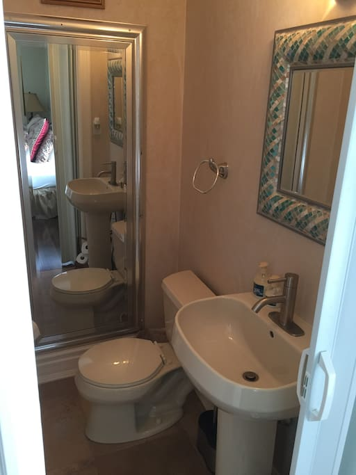 Private powder room for Queen room only