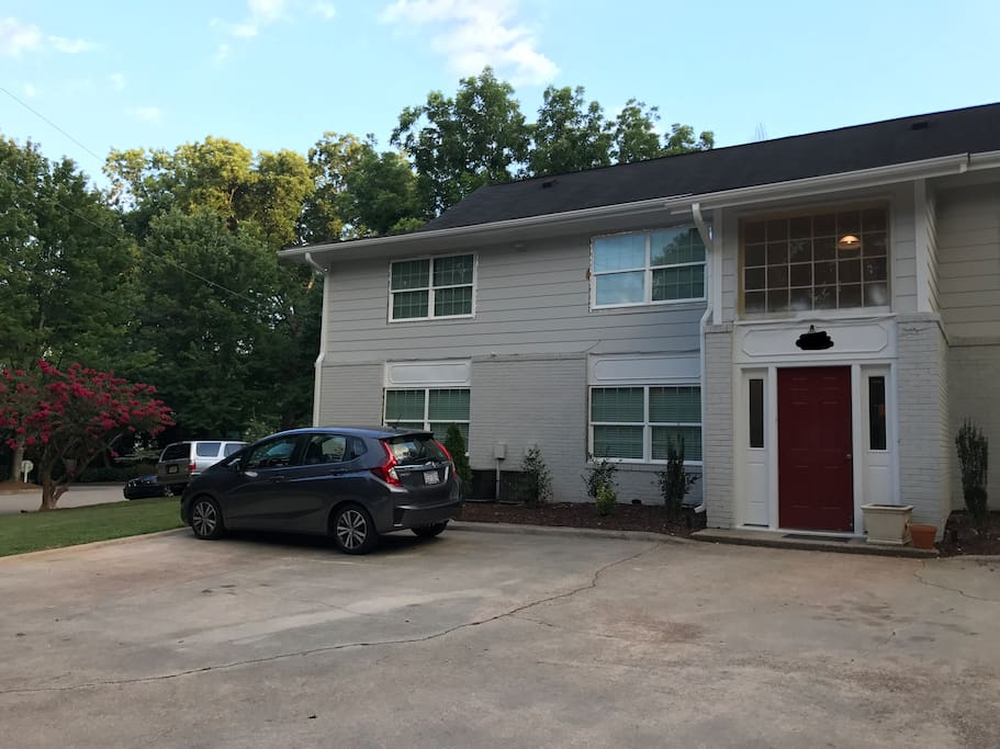 The apartment is in an eight-unit building nestled on a side street in downtown Raleigh.