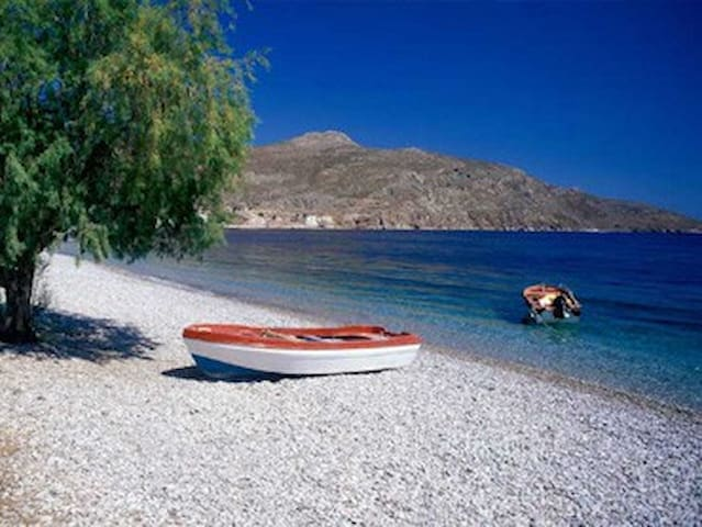 Milios Studios in Tilos peaceful garden & sea view