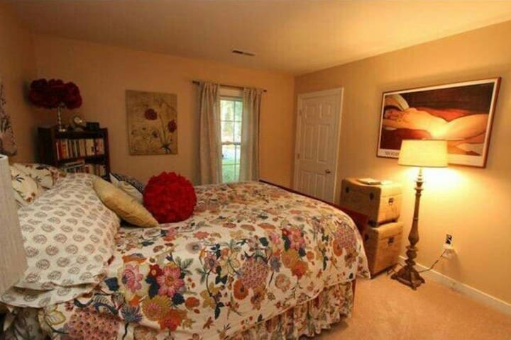 Cozy & warm Queen size bed in an artsy RVA home - Chesterfield - Daire