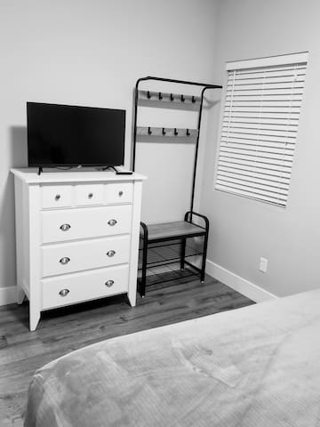 All bedrooms have Roku TVs and room to place your things