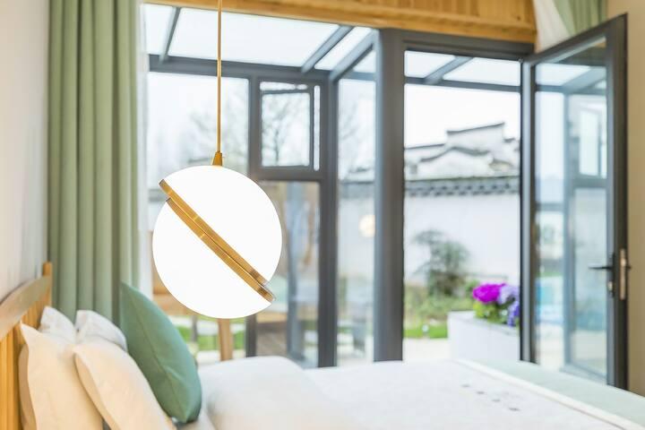 时光美院聆风雅致园景双床房