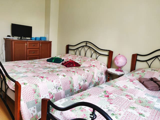 Triple room in the City Center. Free Parking!