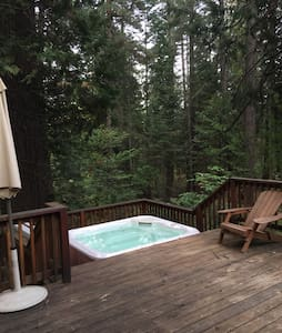 Retro Cabin w/ Hot Tub by Big Trees - Kabin