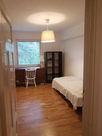 Small, cosy room in a house in countryside/woods
