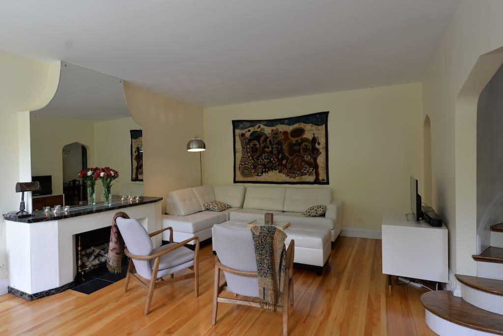 Large, beautiful living room
