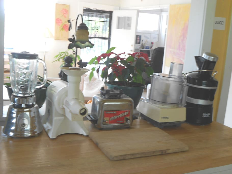 Raw food and juice making equipment