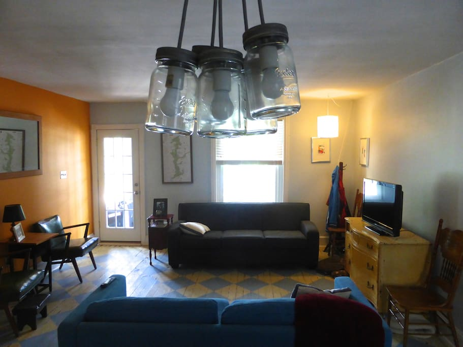 Living room shot from the kitchen.