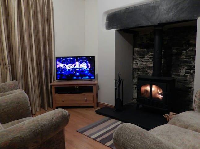 Enjoy the wood-burning stove