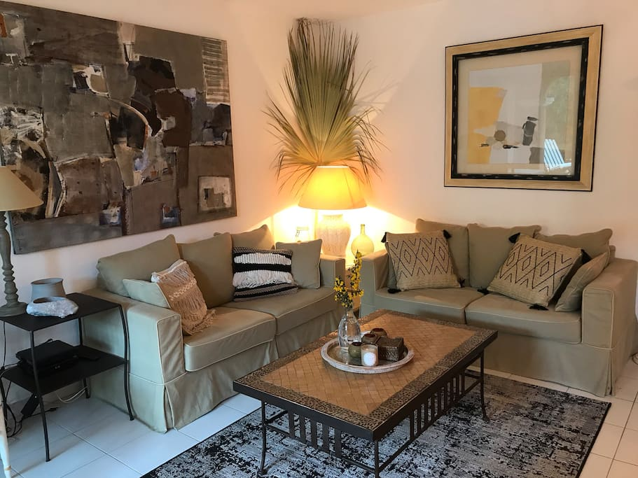 living room with 2 couches - salon