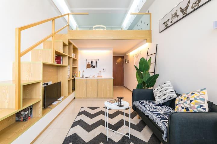 派町—ROOM1北欧复式挑高loft精装房 ,市中心BRT沿线,速达机场动车站