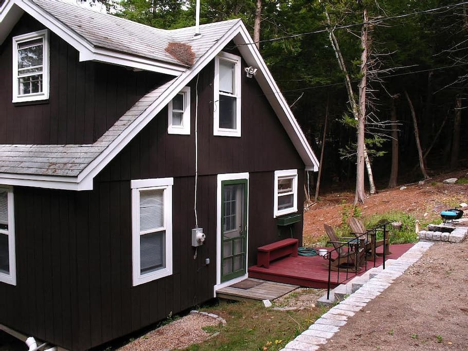 Front of house with another deck