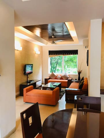 We have BHK Apt and  1 BHK Apt Park facing rooms.