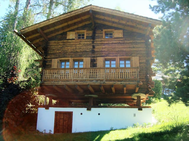 Traditionnal house from the Alps Crans Montana