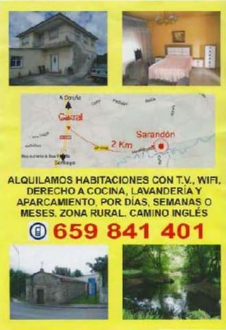 Habitaciones a 2 Km de Carral y  15 km de A Coruña - Abegondo - 一軒家