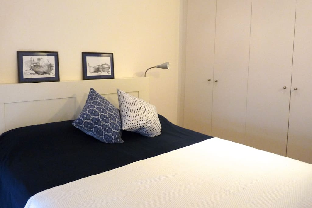very quiet bedroom situated in the back of the flat