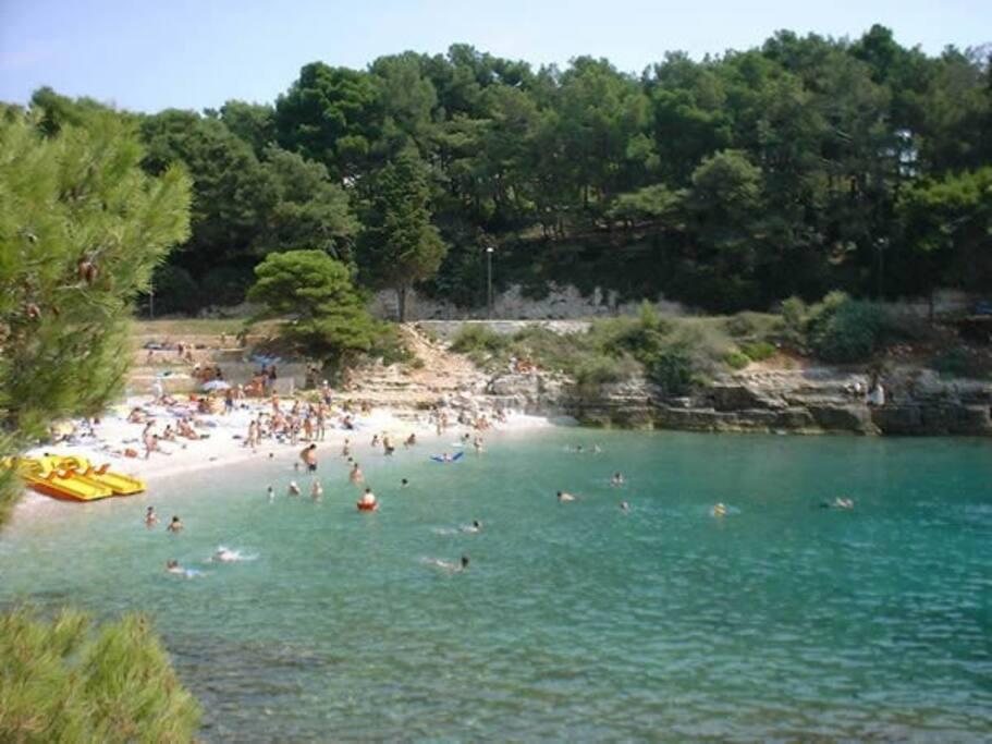 very beautiful beach only 100 m near the app