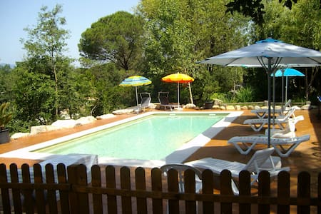 Beautiful villa with saline pool for 15 guests - Sils - Casa de camp