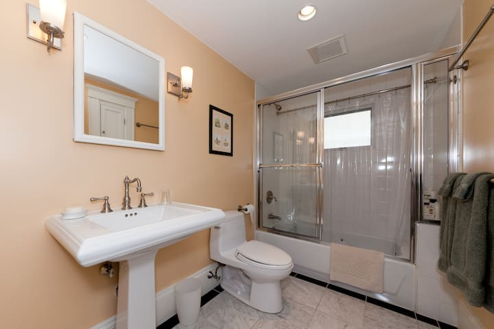 Exclusive use of this remodeled bathroom