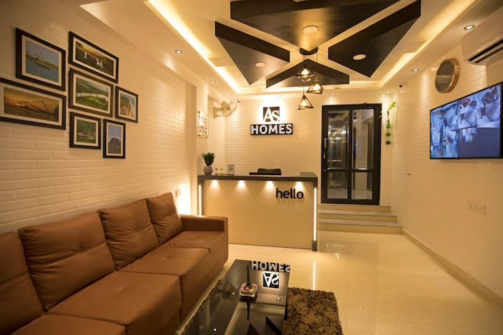 AS HOMES (FULLY FURNISHED A/C 3BHK FOR DAILY RENT)