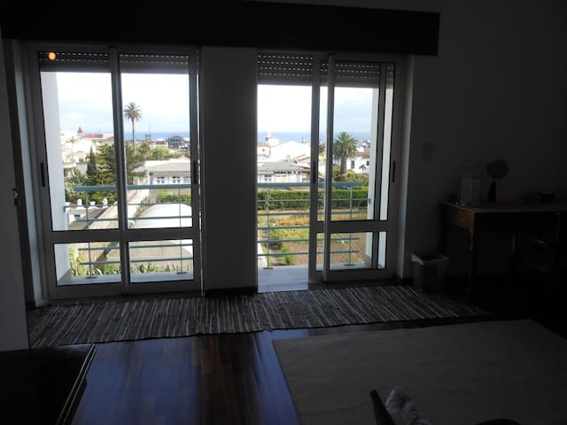 living room downtown view